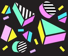 print & pattern blog - camille walala - 1980s style !