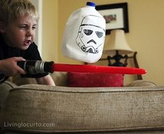 25 Star Wars craft ideas!  Fun for rainy days...@Lisa Phillips-Barton Montana