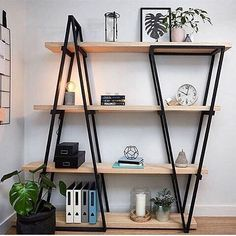 2018 Bookshelves diy, Bookshelves in bedroom, Bookshelves in living room, Booksh. - 49 Amazing Bookshelves Diy Ideas - Home Decor Steel Furniture, Home Furniture, Furniture Design, Modular Furniture, Bedroom Furniture, Plywood Furniture, Furniture Ideas, Refurbished Furniture, Repurposed Furniture