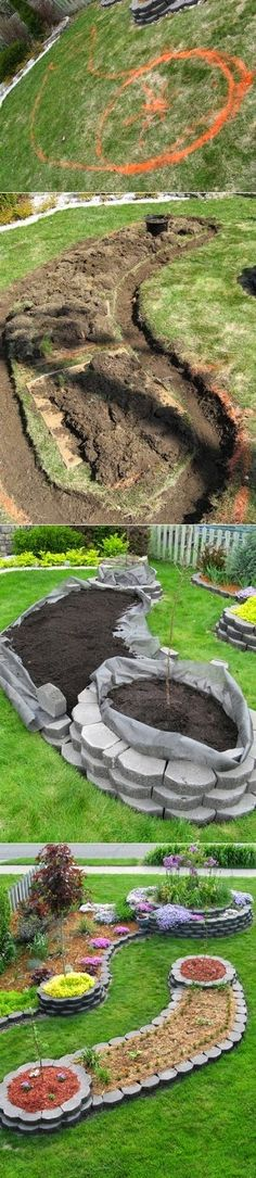 Alternative Gardning: Island bed garden design
