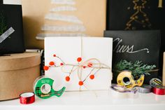 I loooove the holidays! It's truly my favorite time of year. And one of the things I love most is wrapping gifts for the special people in my life. Here's some fun easy to do ideas for wrapping up your holiday gifts this season. What you will need: Scotch Magic Tape Wrapping paper- Black, white …