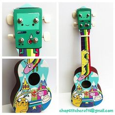 cosmic Ginge Hand Painted Adventure Time Candy Kingdom Ukulele - Ukelele de Hora de Aventuras pintado a mano por Cosmic Ginge #adventuretime #horadeaventuras #ukelele #handpainted
