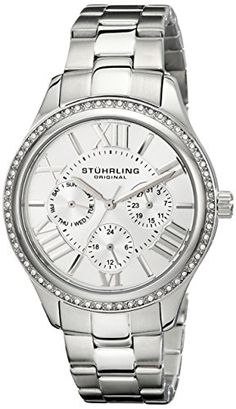 Stuhrling Original Womens 391LS01 Lady Majestic Quartz Swarovski Stainless Steel Watch * You can get additional details at the image link.Note:It is affiliate link to Amazon.