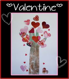 Valentine tree Toddler Time Tips @HTTP://www.facebook.com/toddlertimetips daily activities and projects posted
