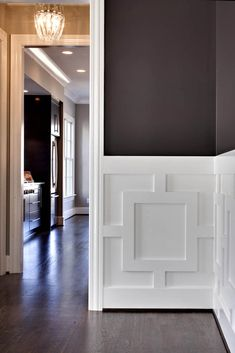 dark walls, light woodwork