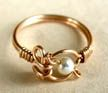 Gold-Filled Ring Jewelry Making Project Made with Swarovski Pearl Beads View 2