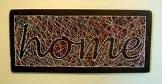 HOME Modern String Art Wooden Name Tablet
