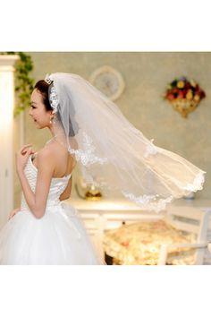 Véus de Noiva Véus cotovelo Laços e Apliques