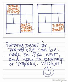 Planning Project Life on the iPad.