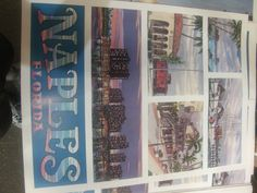 Vintage Naples Florida Travel Poster