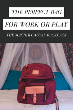 A Perfect Bag for Work or Play: The Machir Casual Backpack
