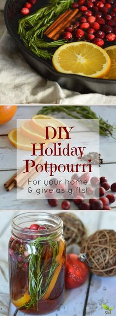 Here's a fantabulous DIY Holiday Potpourri recipe (the perfect non-toxic seasonal scent for your home AND to give as gifts in a mason jar this holiday)