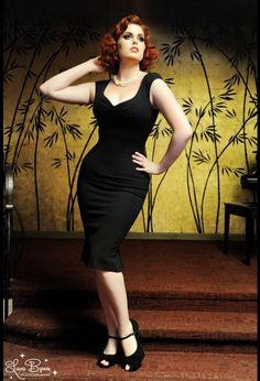 Laura Byrnes Brigette Dress in Black Ponte de Roma Knit Fabric