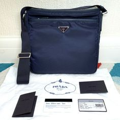 dc76d06fbac010 Details about [RRP £970] *NEW* & *RARE* Genuine PRADA Made-in-Italy Unisex  Nylon Messenger Bag