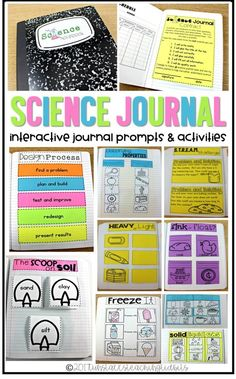 Interactive science journals for the entire year for Kindergarten, first grade, and second grade! Make science fun with these no-prep science journal prompts and activities for a science notebook. Terrific for a science notebook, science journal, interac Science Curriculum, Science Classroom, Science Lessons, Teaching Science, Science Fun, Physical Science, Science Education, Earth Science, Science Experiments