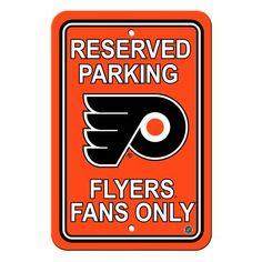 Philadelphia Flyers Sign - Plastic - Reserved Parking - 12 in x 18 in #PhiladelphiaFlyers