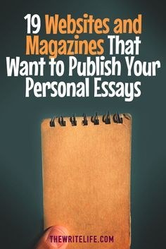 19 Websites and Magazines That Want to Publish Your Personal Essays Essay Tips, Essay Writing Tips, Writing Jobs, Writing Advice, Writing Resources, Writing Help, Writing Services, Writing A Book, Writing Prompts