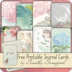 Free printable journal cards from Sweetly Scrapped