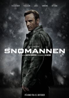 Directed by Tomas Alfredson. With Michael Fassbender, Rebecca Ferguson, Val Kilmer, J. Detective Harry Hole investigates the disappearance of a woman whose pink scarf is found wrapped around an ominous-looking snowman. The Snowman 2017, The Snowman Movie, Martin Scorsese, Jane Eyre, Alicia Vikander, Michael Fassbender Shame, Working Title Films, Film Doctors, Roman