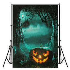 5x7ft Vinyl Halloween Night Pumpkin Photography Background Photo Studio Backdrop