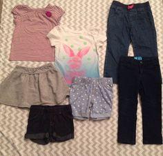 Circo Old Navy Toddler Girls Lot Shirts Skirt Jeans Shorts Blue Bunny Size 2T E1  | eBay