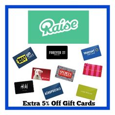 Gift Card deals - coupon for extra 5% off!!