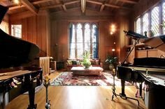 The home is now called the Maybeck Studio because of its cathedral-like recital hall with renowned acoustics for recording and performing. Photo: Liz Rusby