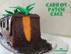 A carrot cake with no carrot taste. It looks amazing! | http://www.handimania.com/cooking/carrot-patch-cake.html