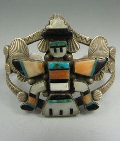 Zuni Mosaic Stone Inlay Knifewing Bracelet