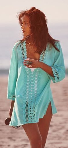 aquamarine crochet trim cover-up http://rstyle.me/n/iskthr9te
