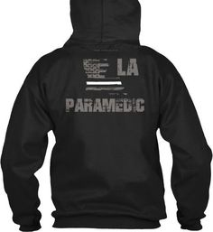 Louisiana Paramedic Thin White Line Hoodie  Wear your LA Paramedic and EMS pride and show your support for the Louisiana Thin White Line.  - Official Thin Line Style Apparel, printed in The USA - 50% Cotton, 50% Polyester - Double-needle stitching for durability, double-lined hood, pill-resistant air jet yarn - Machine Wash Warm, Tumble Dry Low. Do not bleach.