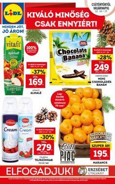 LIDL Akciós Újság 2017 december 14-20-ig: Vitafit almalé, Milbona tejszínhab, Narancs még sok akciós ajánlat ebben a 48 oldalas Lidl katalógusban.