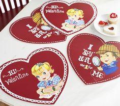 vintage valentine placemats!