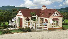 Toy Breyer Horse Play Miniature Horses Animal Hospital Veterinarian Stable Barn