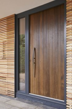 Find your door inspiration with Urban Front's picture gallery. Easily filter hundreds of images & enquire about your dream door today. Modern Entrance Door, Main Entrance Door Design, Wooden Front Door Design, Modern Exterior Doors, Modern Front Door, Wooden Front Doors, Front Door Entrance, Front Door Images, Oak Front Door