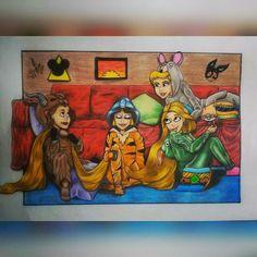 Princess Disney Belle/Bela e a Fera Jasmine Rapunzel  Cinderela  Desenho Drawing  Insta: icarodn27