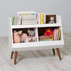 We skipped ahead in our book about building the perfect bookcase to bring you our Next Chapter Bookcase. Exclusively designed for us by Mark Daniels, it features a walnut and white contrasting finish and a contemporary modern design. Its four roomy compartments are great not just for books, but for toys, too.