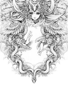 DeviantArt - Discover The Largest Online Art Gallery and Community Coloring Pages For Grown Ups, Coloring Book Pages, Colorful Drawings, Art Drawings, Mystique, Online Art Gallery, Fantasy Art, Illustration Art, Sketches