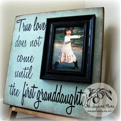 Granddaughter Gift Picture Frame First Grandchild Grandparents Grandma Grandpa Personalized Frame First Time Grandma, Grandma And Grandpa, Grandma Gifts, Grandma Quotes, Son Quotes, Baby Quotes, Family Quotes, Girl Quotes, Cute Gifts