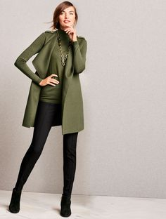 Transition into fall wearing the Double-Face Flyaway Vest. Layer it over a long-sleeve shirt, then add some leggings. You'll look chic in an instant, but be comfortable all day long.   Talbots