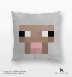 via insanelygaming on Tumblr - Minecraft throw pillows - #minecraft #homelife #furnishings #gamer