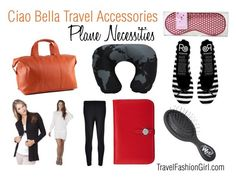 """""""Plane Necessities featuring Ciao Bella Travel Accessories"""" by travelfashiongirl ❤ liked on Polyvore featuring Manzoni, CO, Mossée, The Wet Brush and Rollasole"""