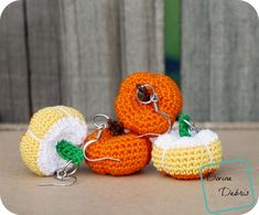Crochet Stuffed Pumpkins Earrings | FaveCrafts.com