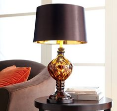 Pier 1 Tortoise Glass Table Lamp