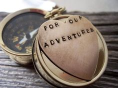Engraved pocket watch from the Bride to the Groom on their wedding ...