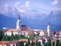 Lubljiana, Slovenia...wonderful little city, beautiful flowers along the river and statues of dragons!