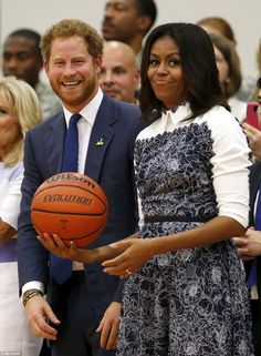 Ready: The First Lady - who had already joked about the prince's effect on women got to he...
