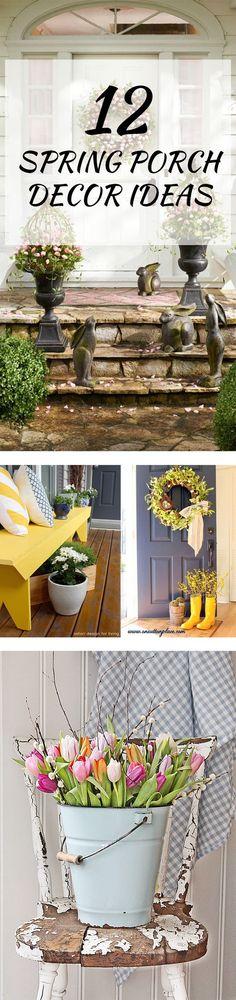 12 Spring Porch Decor Ideas: