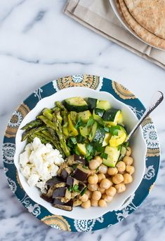 Mediterranean Roasted Vegetable and Chickpea Salad - thelawstudentswife.com