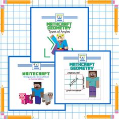 Teach math and writing with kids' favorite game!Children everywhere love Minecraft. These downloadable lessons are sure to capture their attention and keep them engaged.Click for more info!